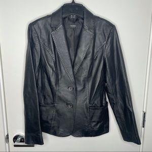 Alfani leather jacket - button closure